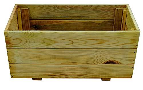 FKL D23 - Jardinera de madera para jardín, terraza, macetero, impermeabilizado, ya montado