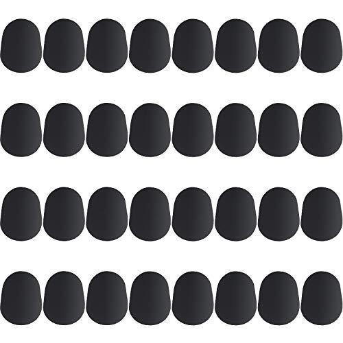 32 Piezas de Parches de Boquilla de 0,8 mm para Alto y Saxofón Tenor y Clarinete, Negro