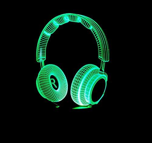 Layyqx 3D DJ koptelefoon nachtlampje Studio Music Monitor Headset Coloful muziek hoofdtelefoon LED tafel decor beste geschenken