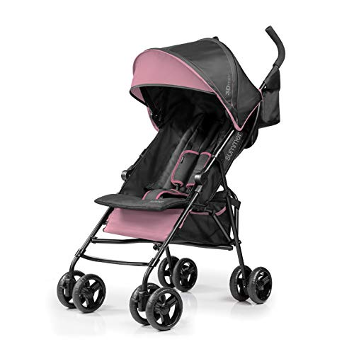 Summer Infant 3D Mini Convenience Stroller, Pink/Black
