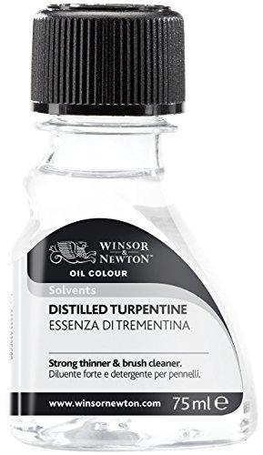 Winsor & Newton 3021744 Balsam Terpentinöl, Künstler, Lösungsmittel für Ölfarben, 75ml Flasche