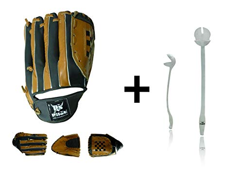 PS Pilot Combo of Baseball/Softball Gloves Mens Size with Cricket Side Arm Ball Thrower (Colours May Vary)