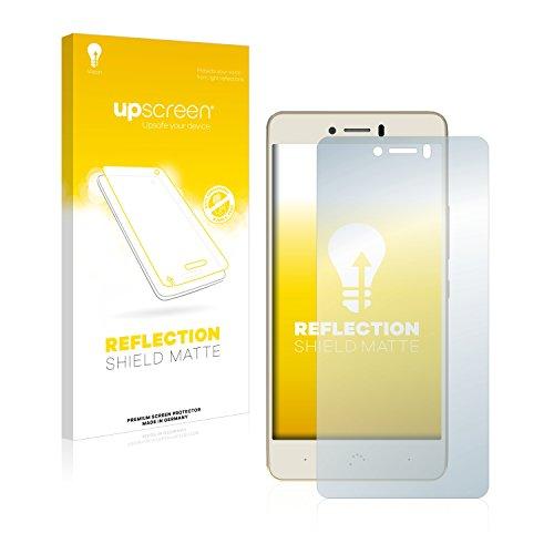 upscreen Entspiegelungs-Schutzfolie kompatibel mit BQ Aquaris U Plus – Anti-Reflex Bildschirmschutz-Folie Matt