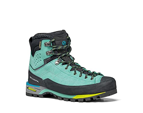 SCARPA Women's Zodiac Tech GTX Waterproof GORE-TEX Boots for Hiking and Mountaineering - Green Blue...