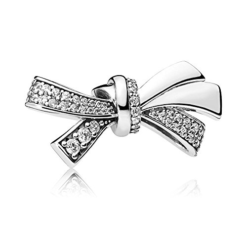 Pandora Moments Brilliant Bow Damen Bead Charm 925 Sterlingsilber