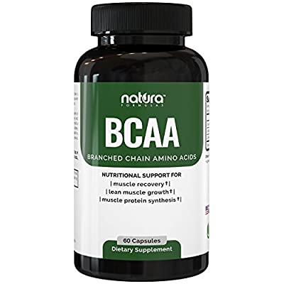 Natura BCAA Capsules - All Natural BCAAs for Recovery and Muscle Growth - Clean Branched Chain Amino Acids - Essential 2:1:1 Ratio - Pre and Post Workout Supplement for Men and Women.