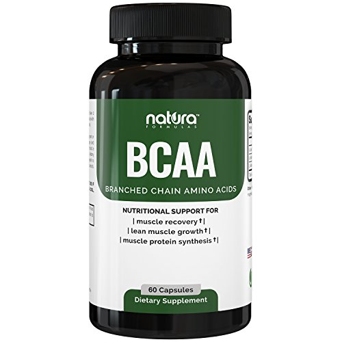 Natura BCAA Capsules - All Natural Branched Chain Amino Acids - Essential 2:1:1 Ratio - Clean BCAAs for Muscle Recovery, Lean Energy and Fat Loss - Pre and Post Workout Supplement for Men and Women