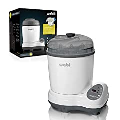 Sterilizing: 8-15min; Smart sensor that auto shuts off when it's done Fits 8 standard size bottles shake off excess water and do not load the bottles with the chamber sitting on top the base unit SETTING: Steam:  Auto-sensing and shut-off.(typically ...