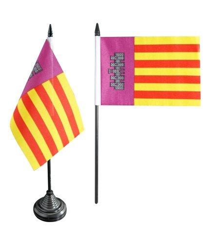 Flaggenfritze® Tischflagge Spanien Mallorca - 10 x 15 cm