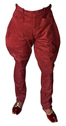 INMONARCH Herren und Damen Rot Cord Reithose BB12, Rot, BB12CM