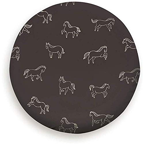 OUSHENGMAOYI Tire Cover Bescherming Wilde Paarden Doodle Collectie Dieren Wildlife Dieren Natuur Reserveband Cover Stofbestendig Universele Reservewiel Tire Cover 14 inch 437