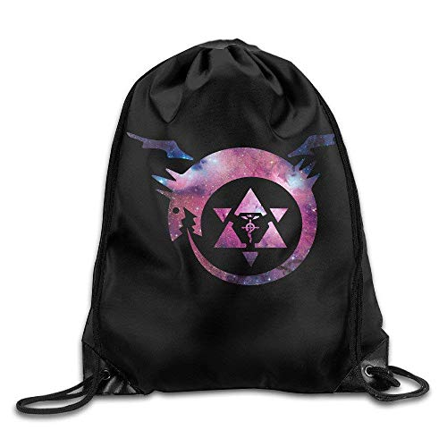 Fullmetal Alchemist Homunculus Anime Drawstring Bag,Drawstring Backpack,White One Size