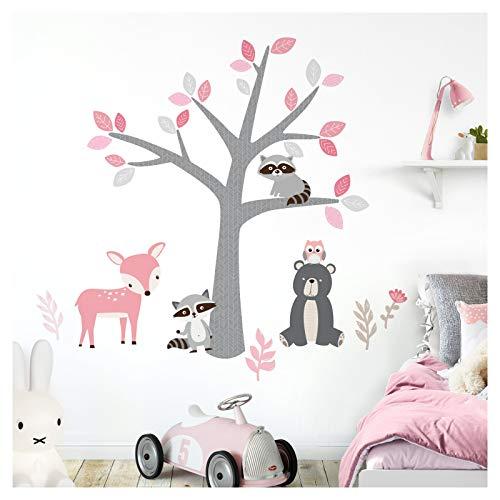 Little Deco DL520A - Adhesivo decorativo para pared (237 x 154 cm), diseño de mapaches