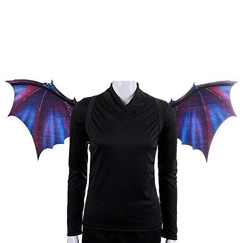 HAWPPWY Halloween Individuelle Halloween Drachen Maske und Flügel Set Schaum und Vlies Cosplay Zubehör Requisiten für Kostümpartys Karneval, Lila