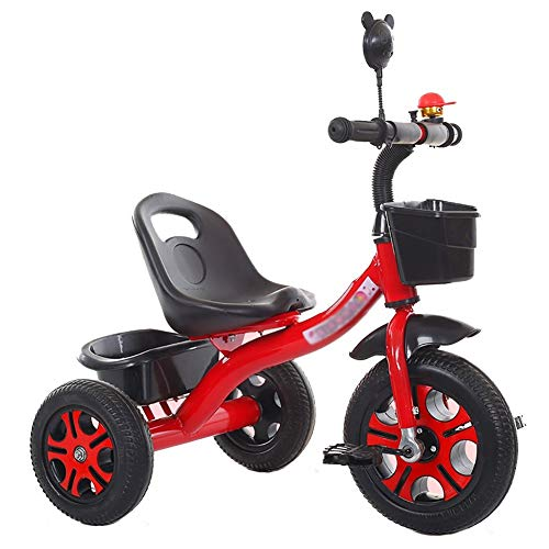 Tricycle Kids for 2-6 Years Old, Kids Trike with Foldable Pedal, 3 Wheel Toddler Bike for Boys/Girls (Color : Red)