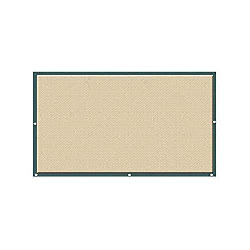 QULONG 6-Pin-Verschlüsselung Tuch, Hochleistungs-HDPE-Sonnencreme, wasserdichtes Sonnensegel, Gartensonnenschutz-Sonnendach in Khaki 95% UV-Block,4X3M