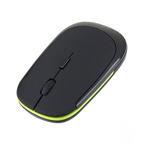 Tenflyer Mini Wireless Optical Mouse USB-ontvanger 2,4 GHz muis voor laptop notebook computer zwart