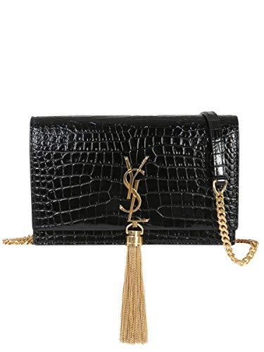 Saint Laurent Luxury Fashion Damen 452159DND1J1000 Schwarz Leder Schultertasche | Jahreszeit Permanent