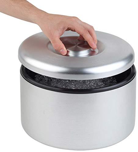 Buddy's Bar - Icebox, secchiello del ghiaccio di alta qualità con capacità di 6 litri, contenitore per ghiaccio in alluminio anodizzato - 27 cm x 27 cm x 20 cm, non lavabile in lavastoviglie