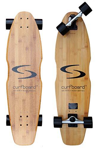curfboard® - Surfskate I Surf-Skateboard - das ultimative Surf-Feeling auf Rädern und ideales Trainingsgerät auf der Straße für Surfboard, Longboard oder Snowboard auch ohne Wellen oder Tiefschnee.