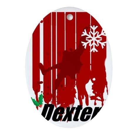 Yilooom Dexter-Stocking Oval Hanging Decoration Ornament Xmas Special Keepsake Art Display - 3