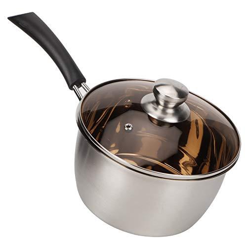 Cerlingwee Olla de Acero, no magnética, Resistente y Duradera, Accesorios de Cocina, Olla de Leche, para Sopa, Leche, Restaurante, Cocina casera