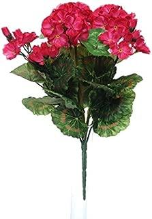 L39 x l 13 x H 40 cm MICA Decorations Geranium D Rose dans Un jardini/ère de Balcon Terra