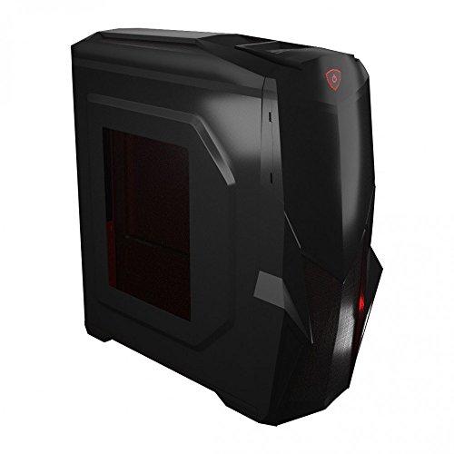 Mars Gaming MC416 -Boîtier d'ordinateur pour jeux, avec ventilateur de 12cm (micro ATX, éclairage LED rouge, ventilateurs jusqu'à 153mm, lecteur de cartes SD/microSD, USB 2.0/3.0, Audio HD/Mic), no