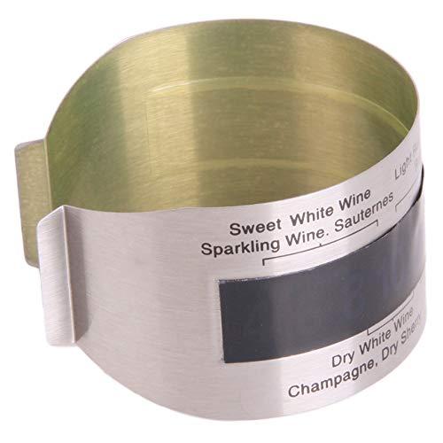 JIFeng Termómetro de vino de acero inoxidable con sensor de temperatura para el hogar, accesorios para cenas
