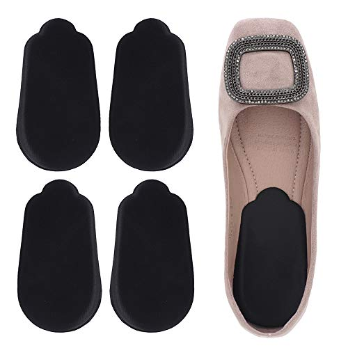 Dr. Foot's Orthopedic Medial & Lateral Heel Wedge Silicone Insoles for Supination & Pronation - O/X Type Leg Corrective Gel Adhesive Inserts - 2 Pairs (Black)