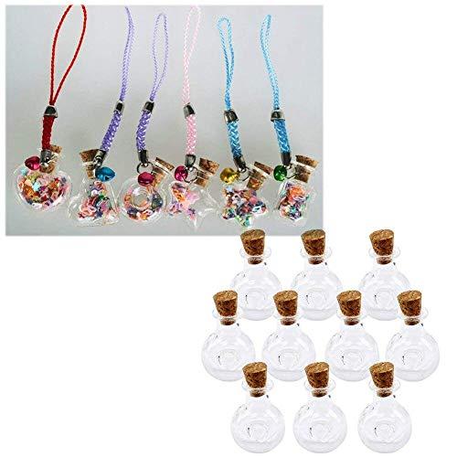 Ampoule Forme Mini Bouteilles en Verre Multi Utilisation Transparent Rêves Drift Fioles avec Cork 10 Pcs