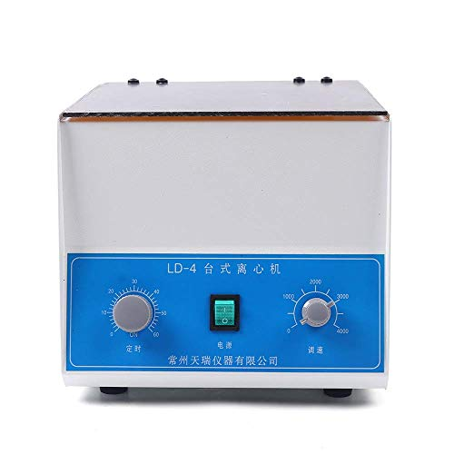 WLL-DP LD-4 Electric Lab Benchtop Centrifuge, 4000RPM 4 Tubes x 100ml Centrifuge Machine with Timer and Speed Control for Lab