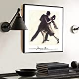 Dancing Man Woman Poster Party Bar Wall Art Painting Restaurant Posters and Prints Decoración de Hotel Retro Vintage 30x30 CM (sin marco)