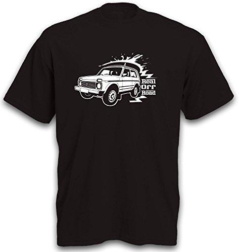 T-Shirt Niva 2121 4x4 Motiv Auto Jeep SUV Geländewagen Allrad Offroad Gr. S