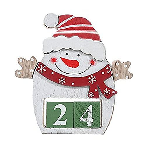 Adornos de escritorio con forma de dibujos animados de color vibrante calendario de madera adornos de Navidad para el hogar - 2