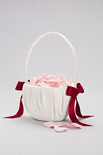 David's Bridal Single Ribbon Flower Basket Style DB71065FB, Ivory