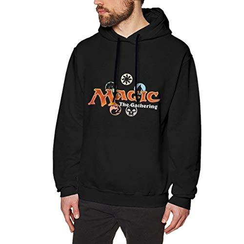 AKKUI Sudaderas Hombre Sudaderas con Capucha Evmjser Magic The Gathering Men's Fashion Long Sleeve Fleece Sweater Pullover Black