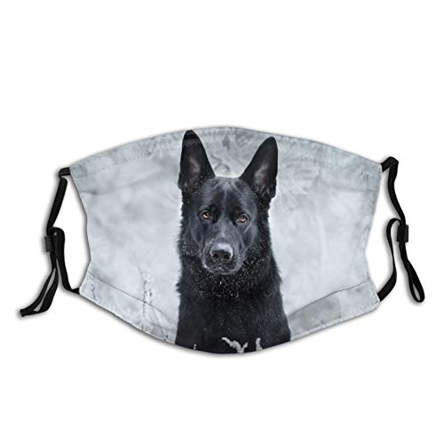 Adult dust mask with Filter German Shepherd Dog Black Muzzle Look Branches Washable Reusable Face Bandanas Indoor and Outdoor Activities
