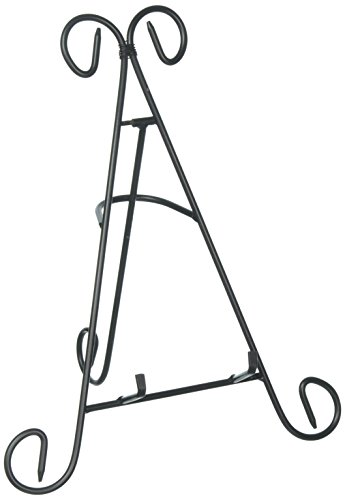 Adorox (12) Black Iron Display Stand Easel Holds Cook Books, Plates, Pictures & More! (Black (1 Stand))