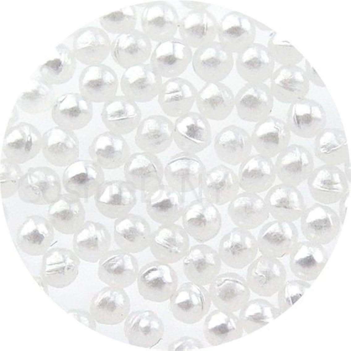 再生可能一人で集団的パールストーン球1.5mmホワイト