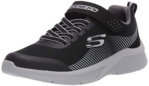 Skechers Kids Boys' MICROSPEC-GORZA Sneaker, Black/Grey, 9 Medium US Toddler