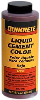 Quikrete 13173 Liquid Cement Color, Red, NET 10 FL. OZ.(296 mL)