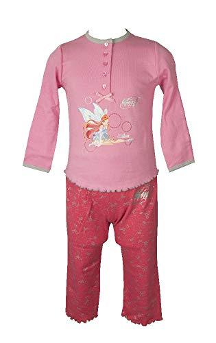 non applicabile Pyjamas Mädchen Kinder Langarm Interlock Baumwolle mit Wecker als Geschenk WINKS Artikel PG3560, Corallo, Taglia III - anni 2/3