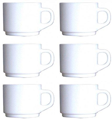 6 Obertassen 22cl stapelbar Cylindrique Opalglas