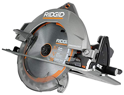 Ridgid R8653 Gen5X Brushless 18V Lithium Ion Cordless 7 1/4 Inch 3,800 RPM Circular Saw with Bevel and Depth Adjustment (Batteries Not Included, Power Tool Only) (Renewed)
