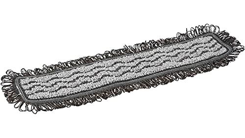 Vikan 549549 Damp 42 Mop, Dark, Hook & Loop, 40 cm Tamaño del Sistema VEC, Gris, Caja de 5