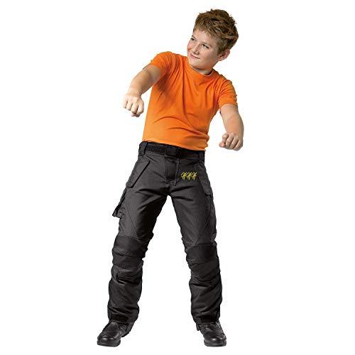 HHH SPORTS WEARS Motorradhose für Kinder mit wasserdichtem Protektoren aus Polyester M Schwarz