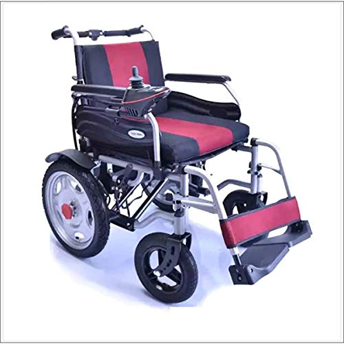 Electric Wheelchair, Foldable Power Wheelchair, Drive with Electric Power Or Manual Wheelchair for Disabled Elderly