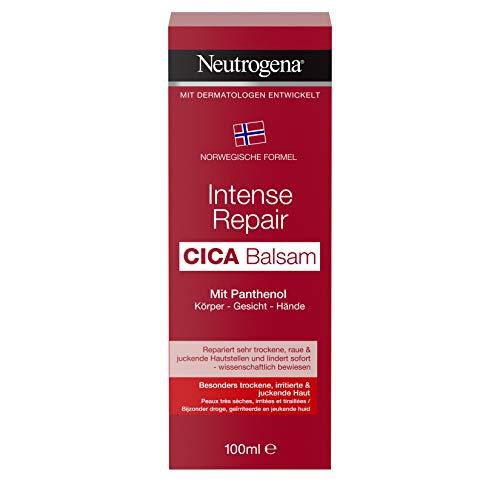 Neutrogena Intense Repair CICA Balsam mit Panthenol für Körper, Gesicht und Hände, Bodylotion, Gesichtscreme und Handcreme in einem, 100 ml