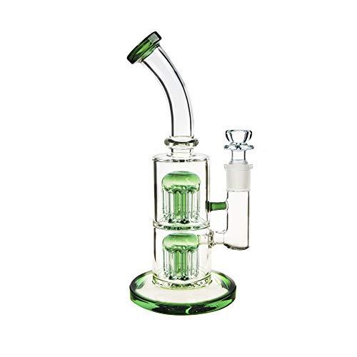 REANICE (Castle A Bong glas18.8mm Bong schüssel höhe 27cm Glas Bong Wasser Gute Qualität großen Bongs -Grün